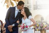 Bride, Bridegroom, Kissing, Forehead, Wedding
