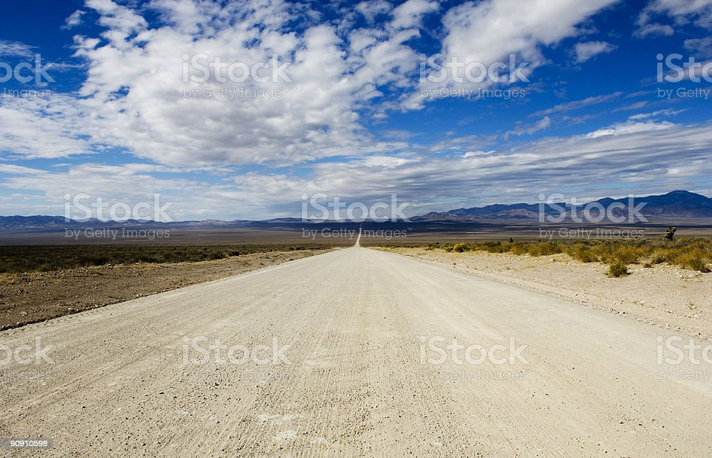 Groom Lake Road Heads Toward Area 51 stock photo