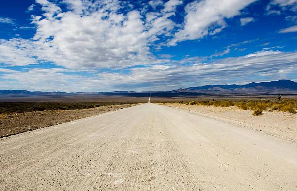 Groom Lake Road Heads Toward Area 51 stock photo
