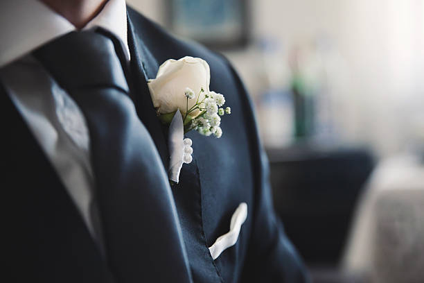 A groom preparing to marry the love of his life Groom is preparing for the wedding ceremony tuxedo stock pictures, royalty-free photos & images