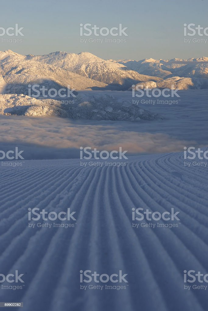 Groomed Valley Cloud royalty free stockfoto