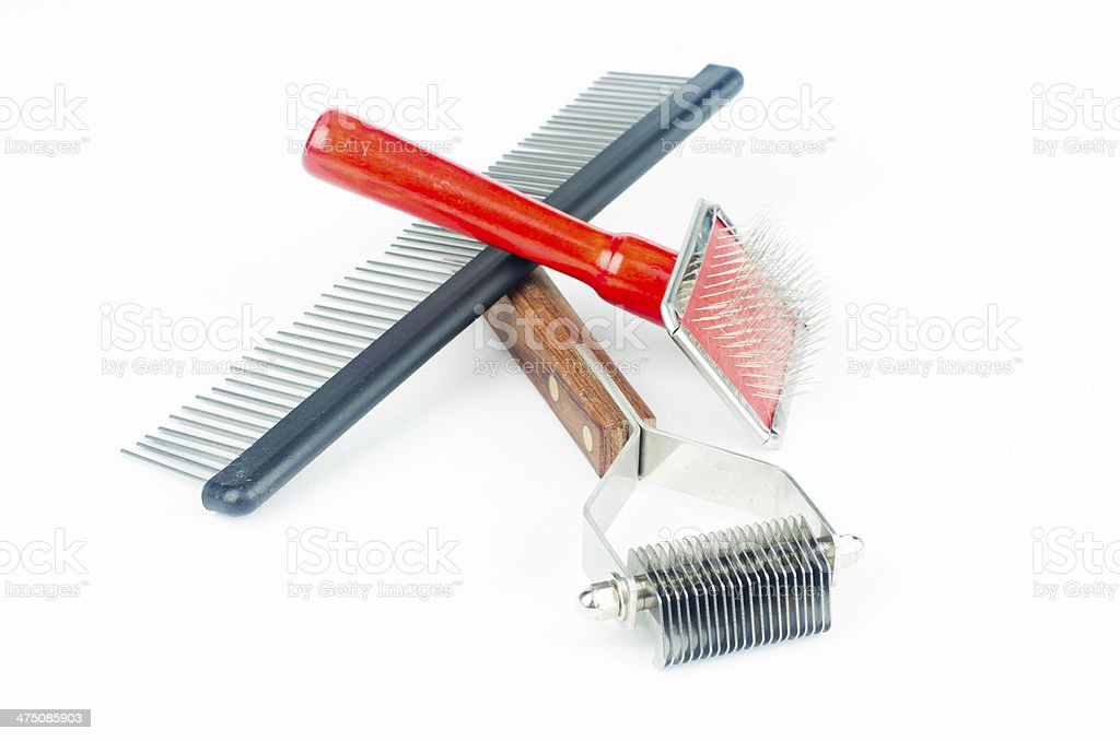 Grooming and trimming equipment stock photo