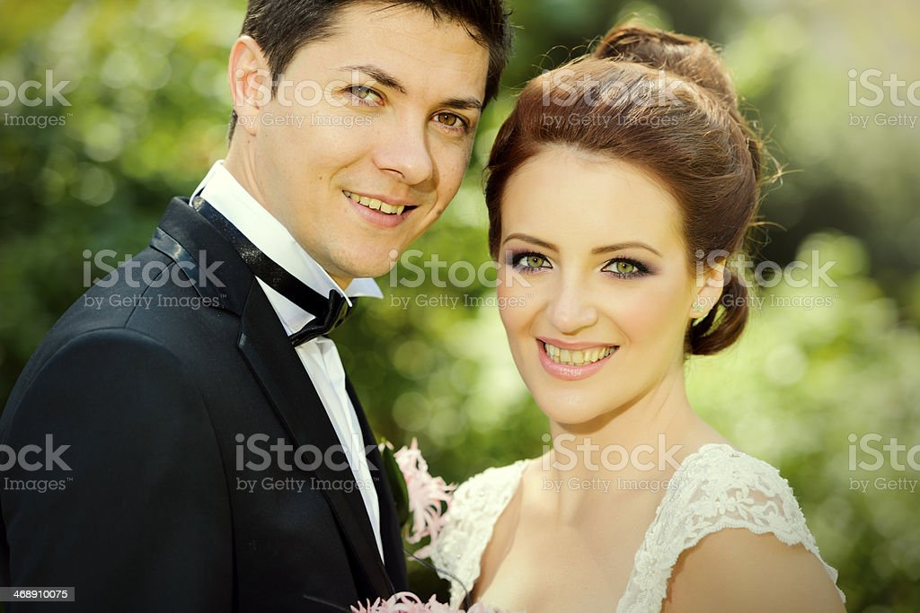 grooms portrait smiling royalty-free stock photo