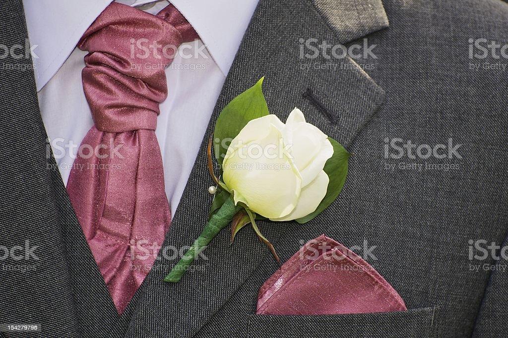 Groom's wedding day attire royalty-free stock photo
