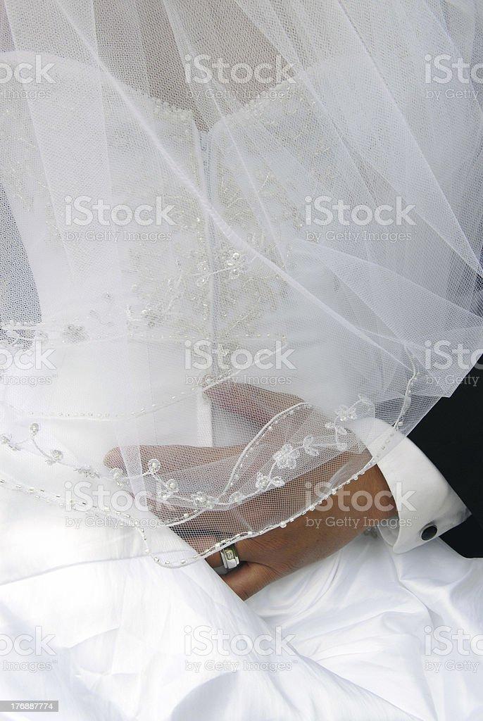 Groom's wedding ring hand royalty-free stock photo
