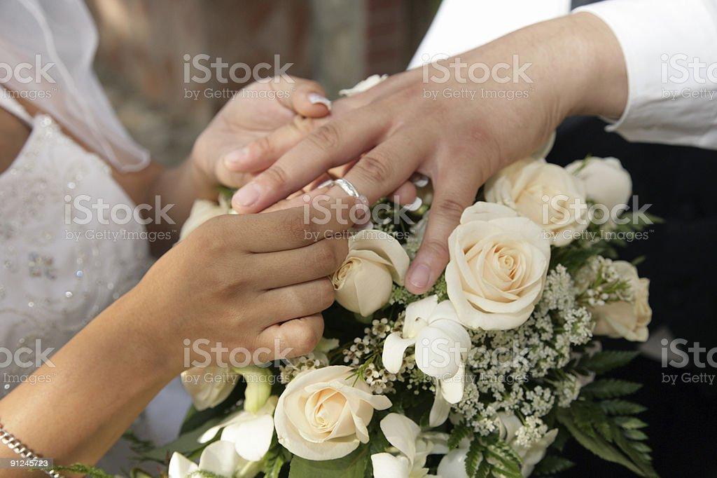 Groom's Wedding Ring royalty-free stock photo