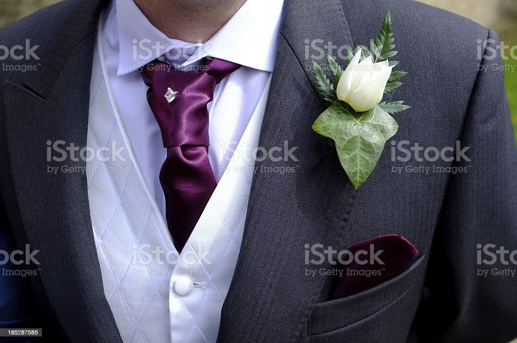 Groom's wedding suit royalty-free stock photo