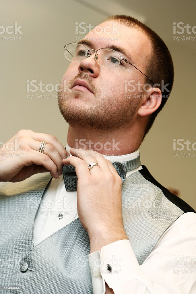 Groomsman Getting Ready royalty-free stock photo