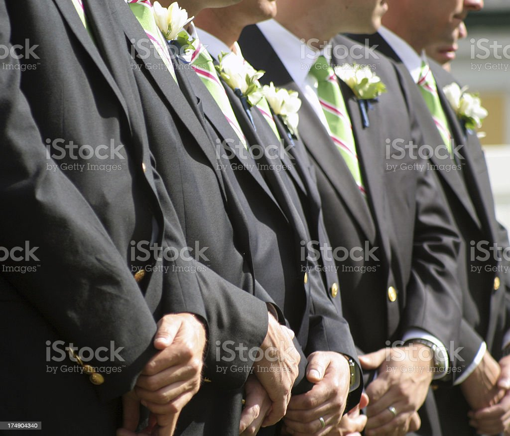 groomsmen royalty-free stock photo