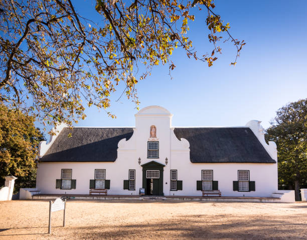Groot Constantia farm house in Cape Town, South Africa stock photo