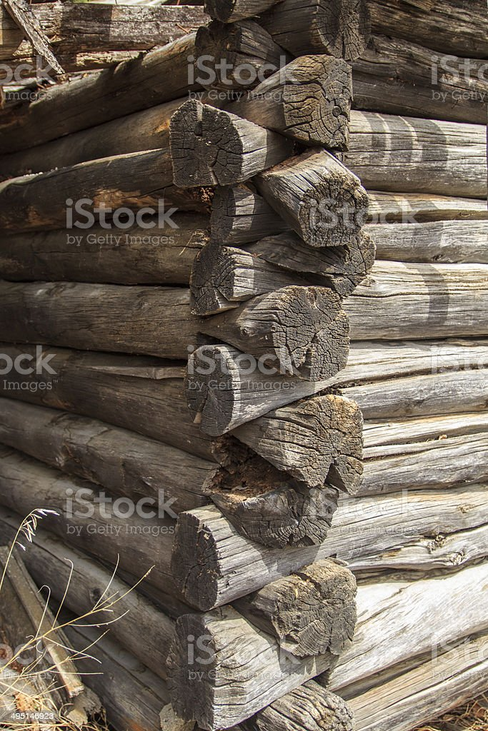 Grooved logs royalty-free stock photo