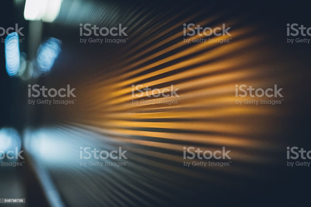 Grooved metal texture stock photo