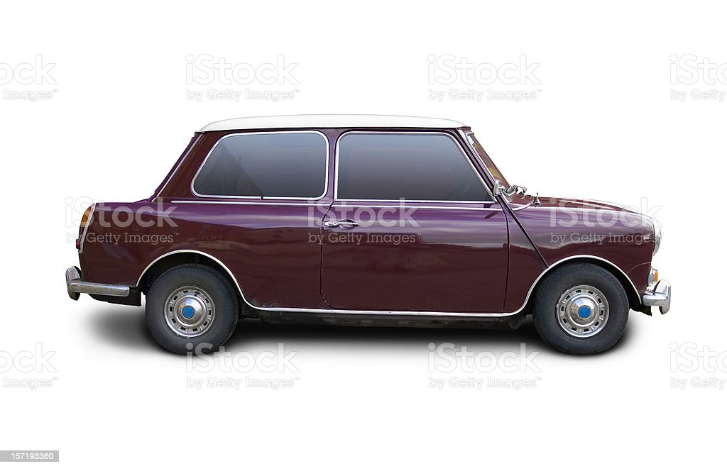Groovy old car with clipping paths stock photo