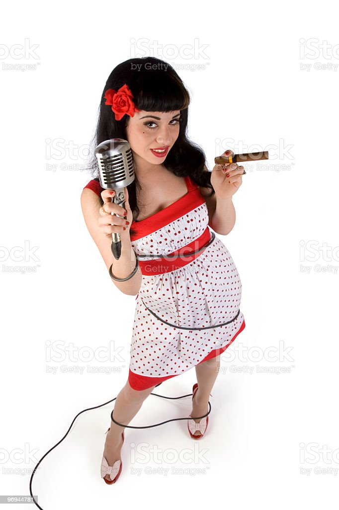 Groovy Pin-up royalty-free stock photo