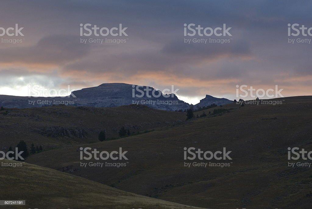 Gros Ventre Wild Dawn stock photo