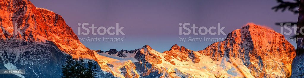 Groshorn and Breithorn stock photo