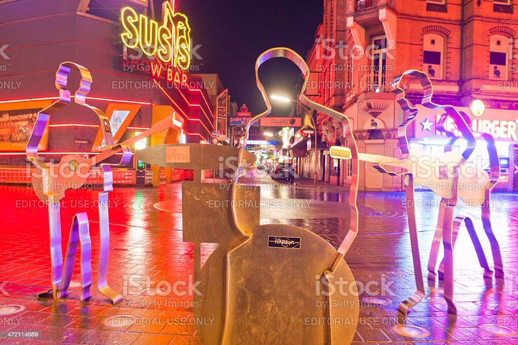 Grosse Freiheit and Beatles Platz in Hamburg stock photo