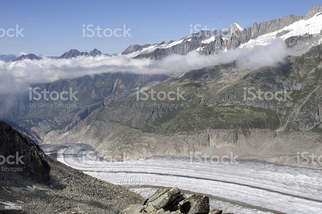 Grosser Aletschgletscher royalty-free stock photo