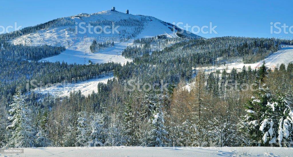 Grosser Arber Mountain,bavarian Forest,Germany stock photo