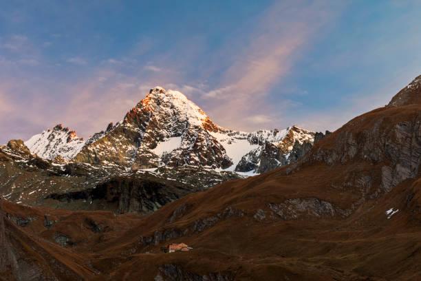 Großglockner Alpenglühen im Herbst im Tal Ködnitz – Foto