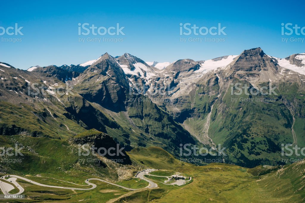 Grossglockner High Alpine Road, Austria stock photo