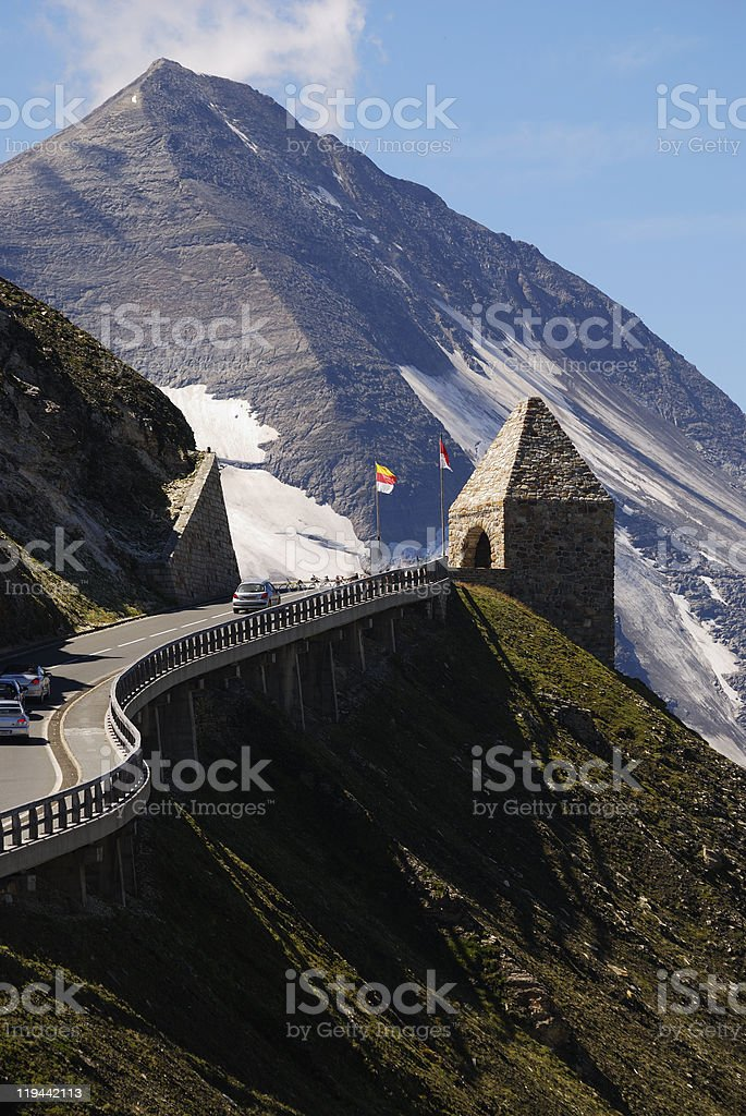 Grossglockner High alpine road royalty-free stock photo