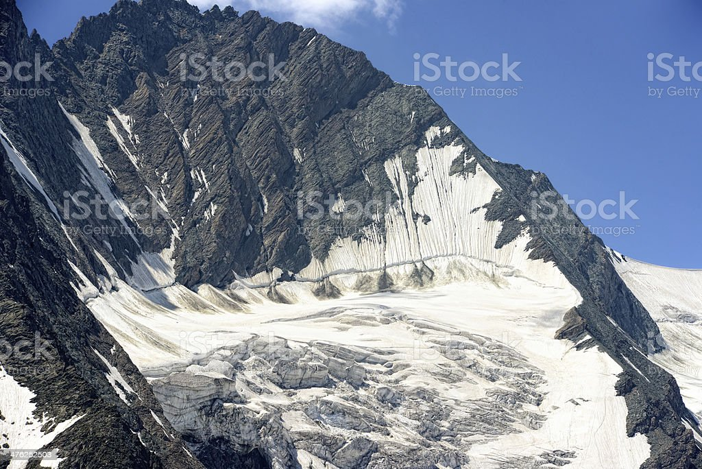 Grossglockner mountain and glacier royalty-free stock photo