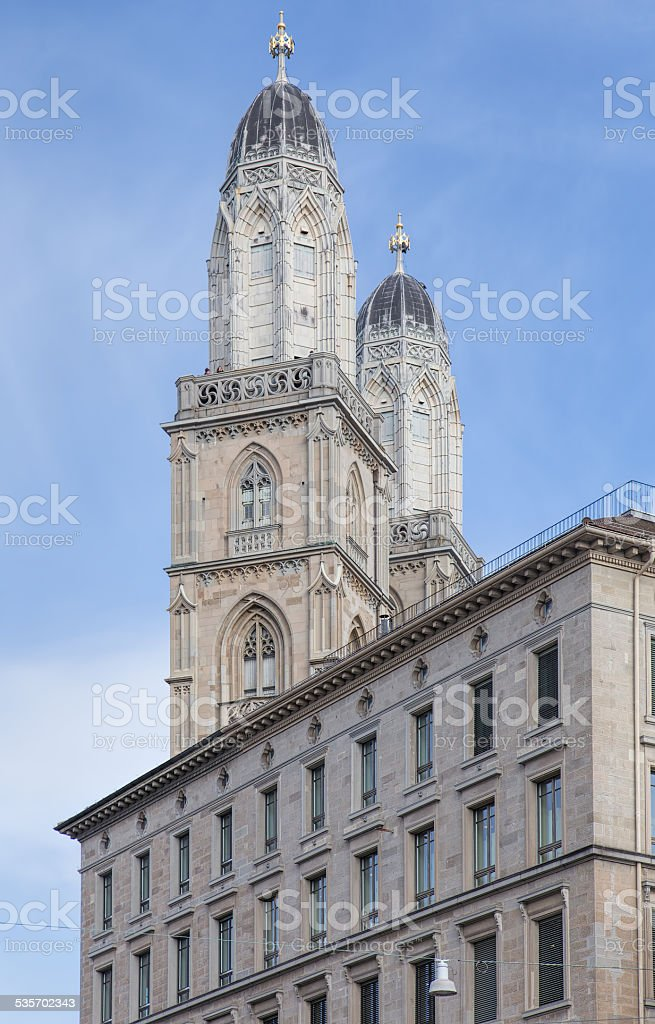 Grossmunster Towers stock photo