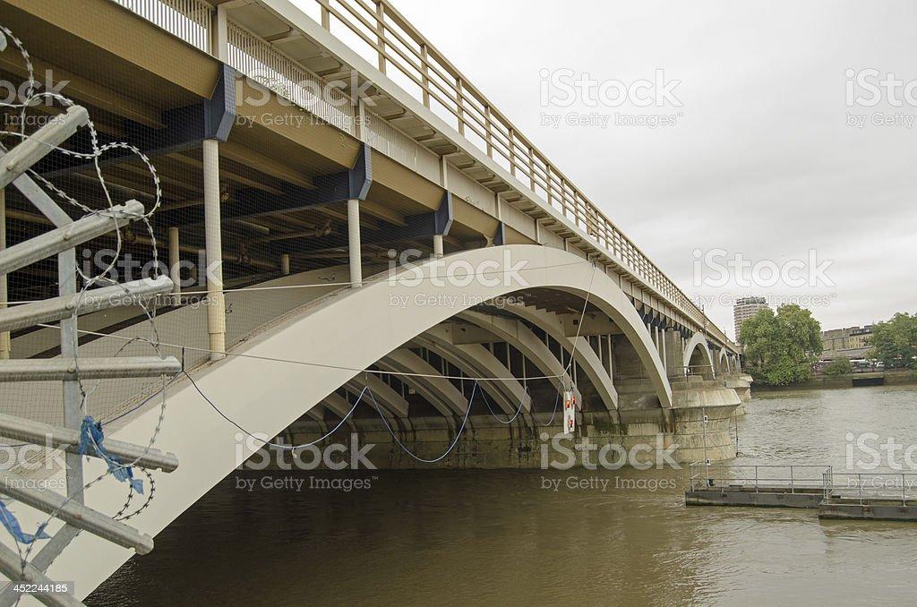 Grosvenor Bridge, Battersea stock photo