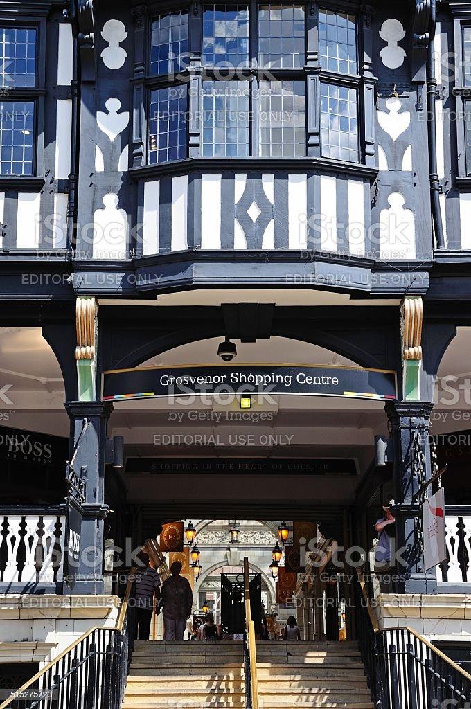Grosvenor shopping centre, Chester. stock photo