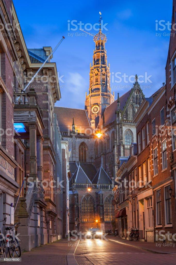Grote Kerk, Haarlem stock photo