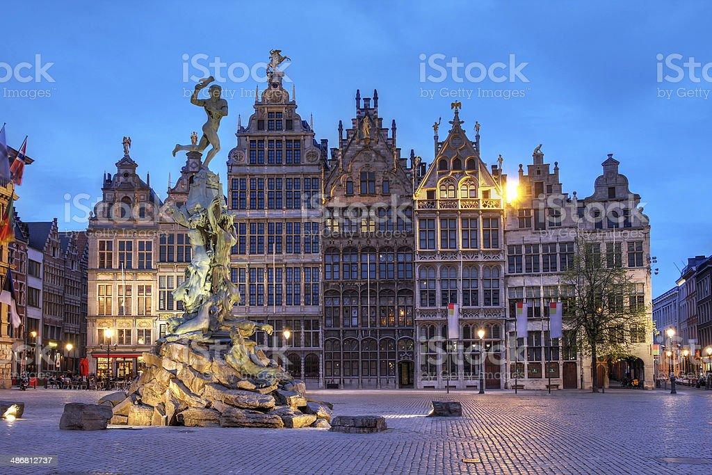 Grote Markt, Antwerp, Belgium stock photo