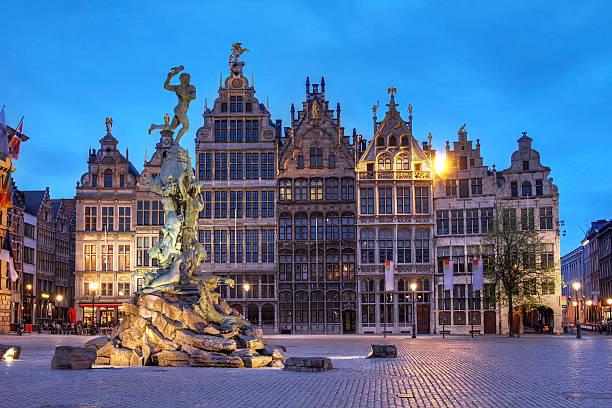 Grote Markt, Antwerpen,, Belgien – Foto
