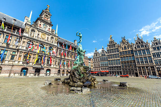 Grote Markt in Antwerp with Statue - Photo