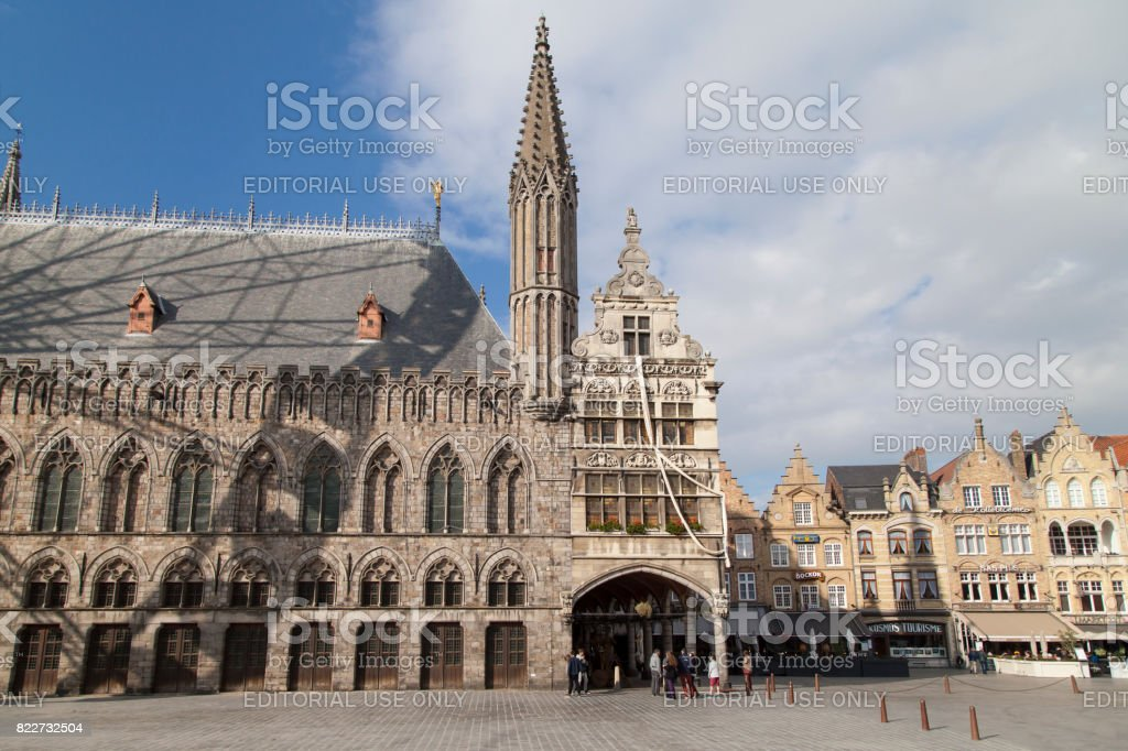 Grote Markt of Ypres stock photo