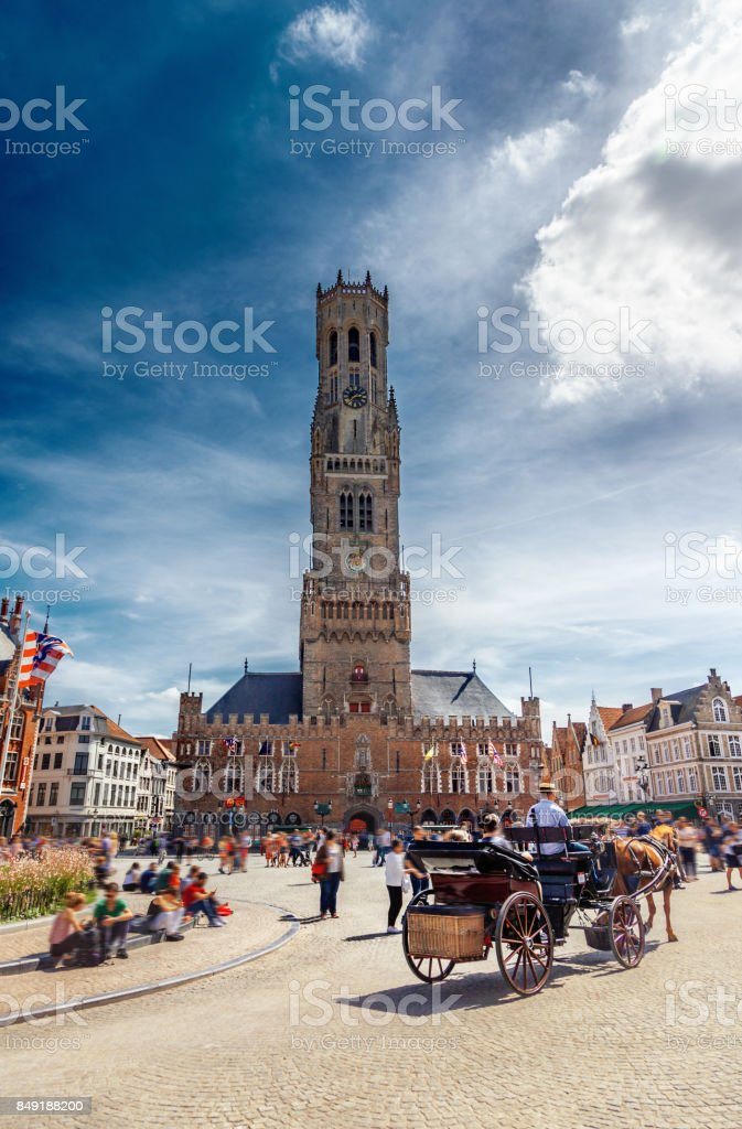 Grote Markt place à Bruges, Belgique - Photo