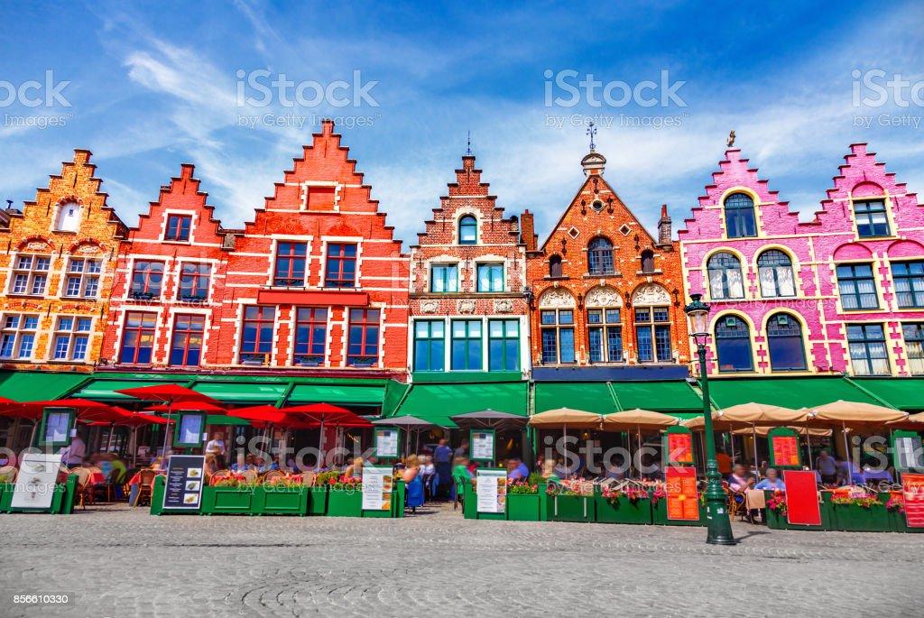 Grote Markt plein in Brugge foto