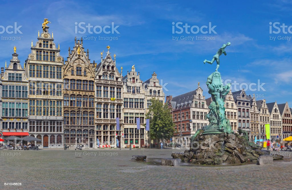Grote Markt with Brabo fountain in Antwerp, Belgium - Photo