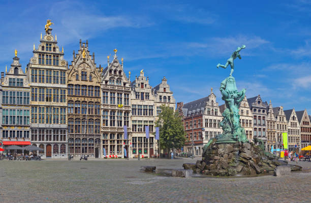 Grote Markt with Brabo fountain in Antwerp, Belgium - Photo