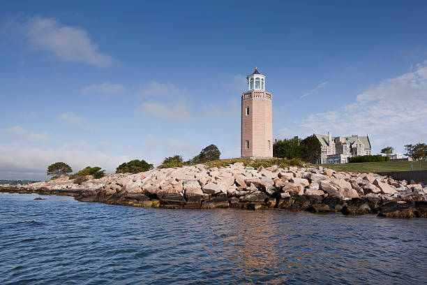 Groton Lighthouse stock photo