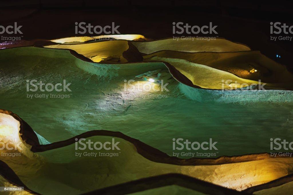 Grottes de Saint Marcel d'Ardeche. stock photo