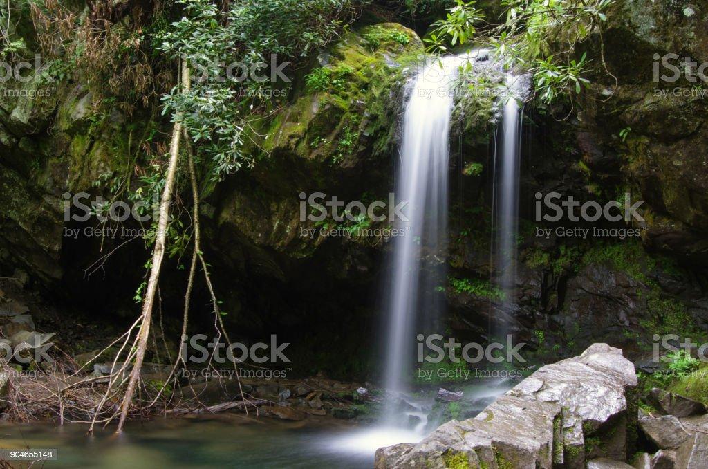 Grotto Falls, GSMNP stock photo