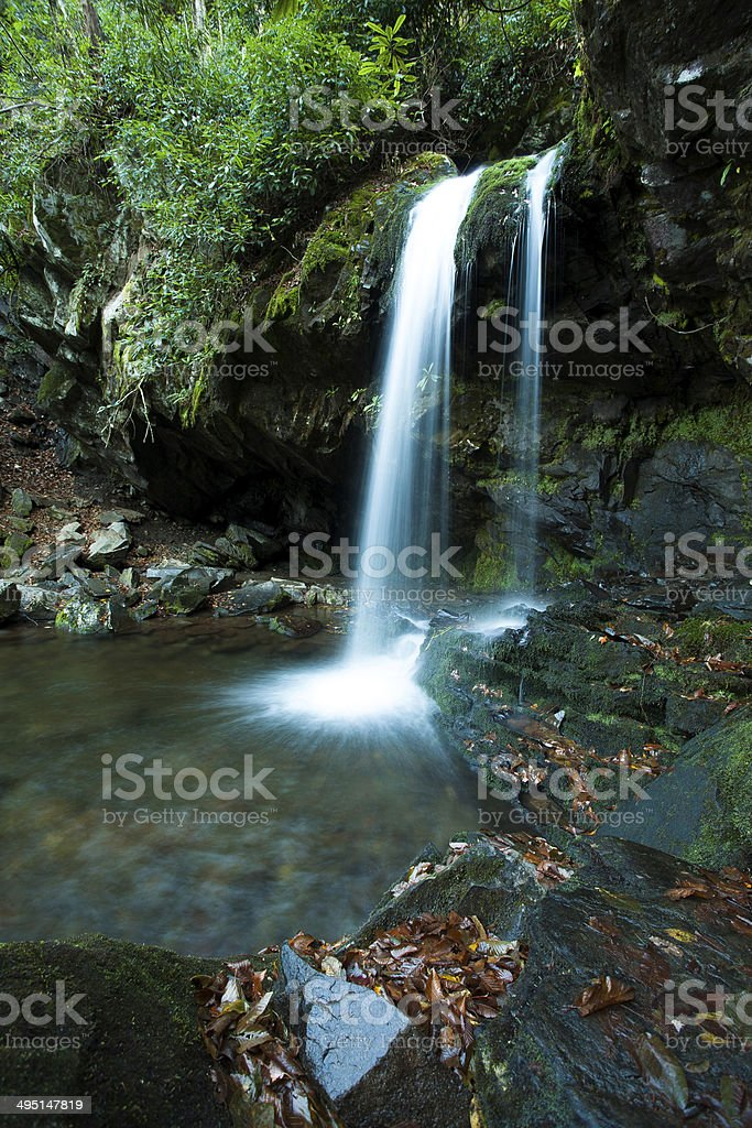 Grotto Falls in Great Smoky Mountain stock photo