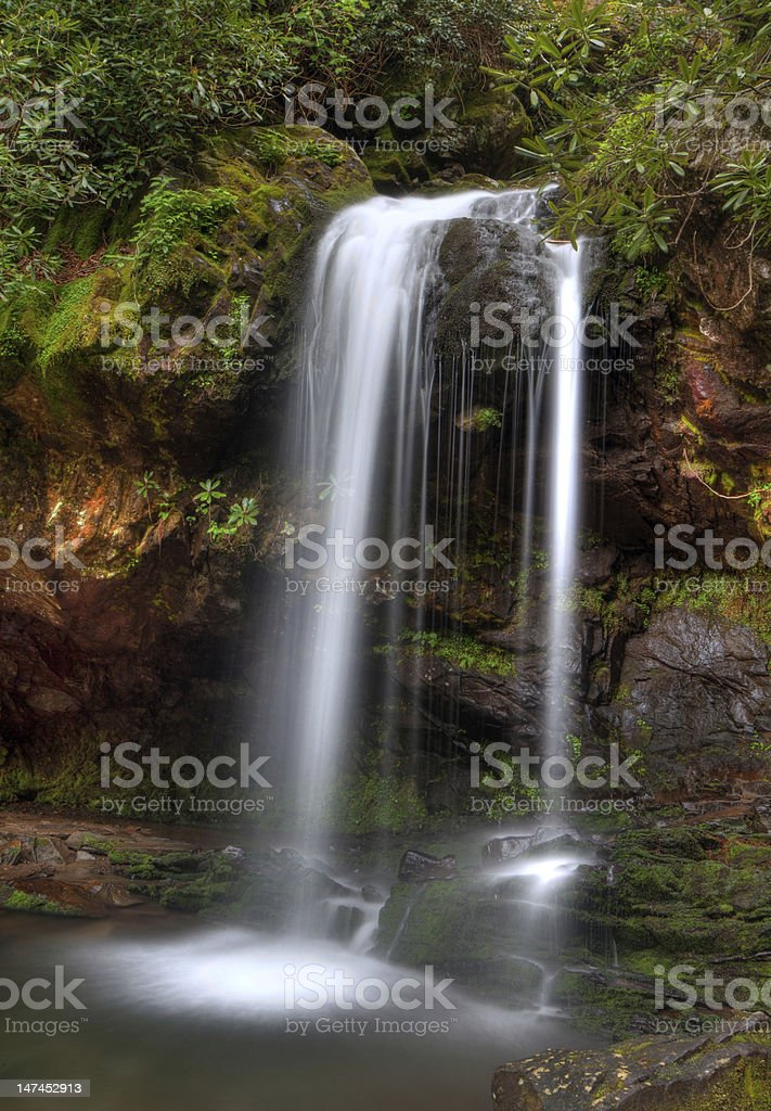 Grotto Falls royalty-free stock photo