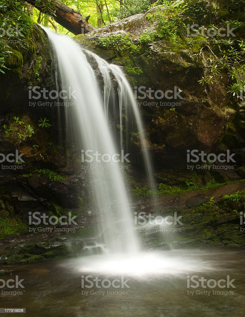 Grotto Falls - Smoky Mountains royalty-free stock photo