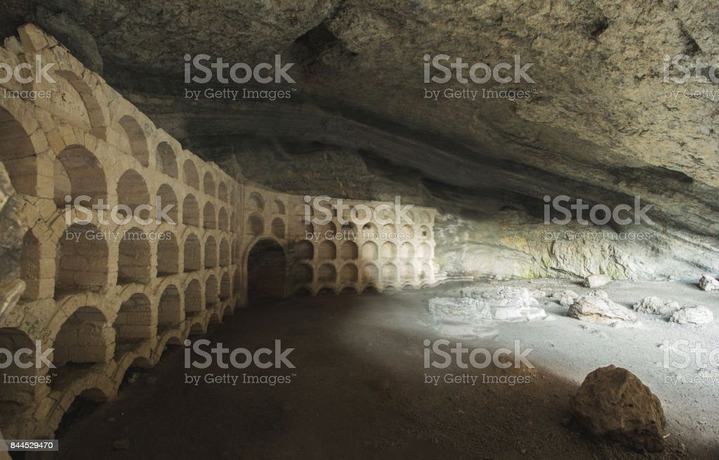grotto Golitsyn stock photo