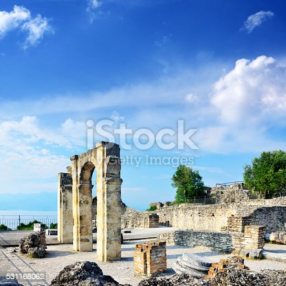 Grottoes of Catullus is the ruins of a Roman villa 1st century BC in Sirmione, northern Italy