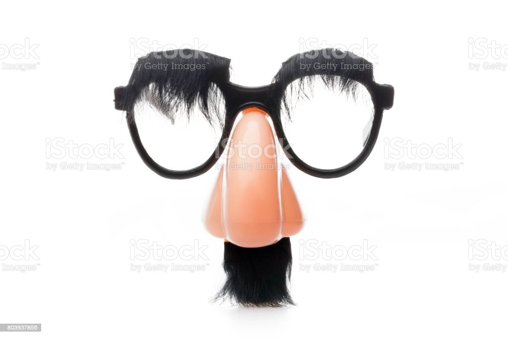 Groucho marx disguise. stock photo