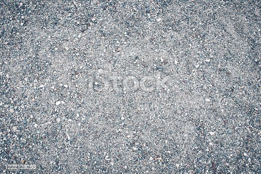 Surface grunge rough of ground asphalt, Tarmac grey grainy road, Texture Background, Top view.