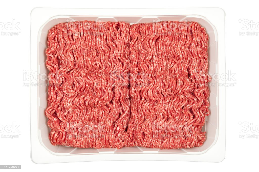 Ground Beef in Tray (C.Path) royalty-free stock photo